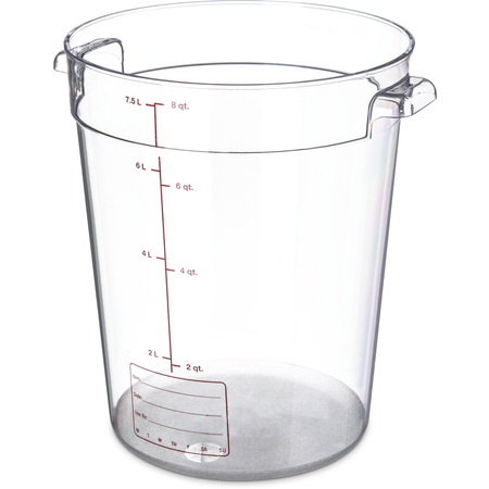 1076607 - StorPlus™ Polycarbonate Round Food Storage Container 8 qt - Clear