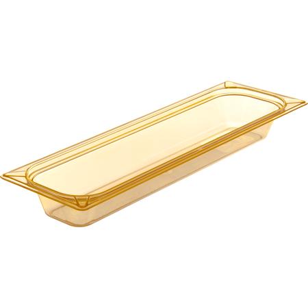 "10440B13 - StorPlus™ High Heat Food Pan 1/2 Long Size, 2.5"" Deep - Amber"