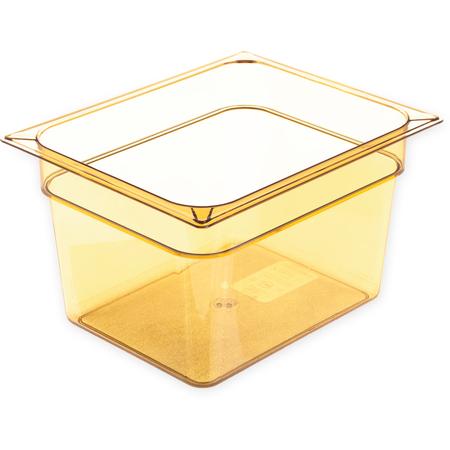 """10423B13 - StorPlus™ Food Pan HH 8"""" DP 1/2 Size - Amber"""