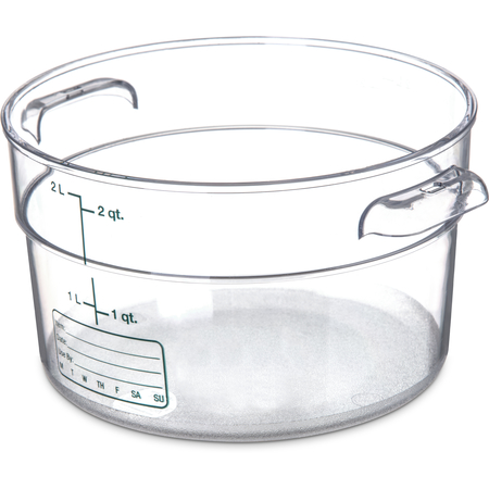 1076307 - StorPlus™ Polycarbonate Round Food Storage Container 2 qt - Clear