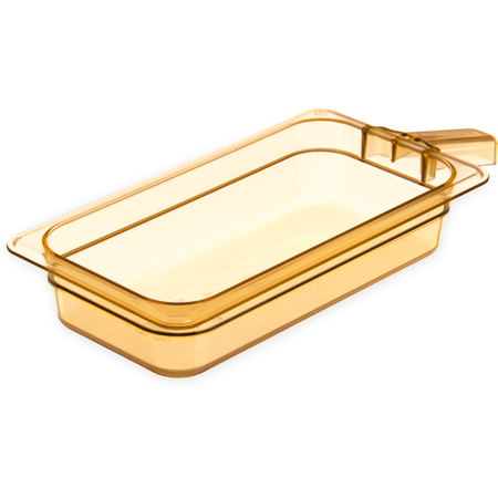 "30860H13 - StorPlus™ High Heat Food Pan with Handle 1/3 Size, 2.5"" Deep - Amber"