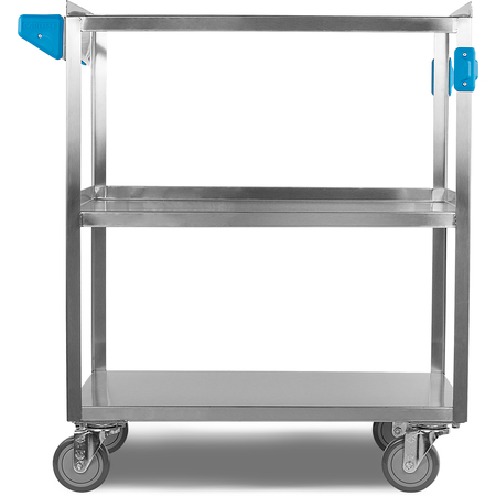 """UC5031827 - 3 Shelf Stainless Steel Utility Cart 500 lb Capacity 18""""W x 27""""L - Stainless Steel"""