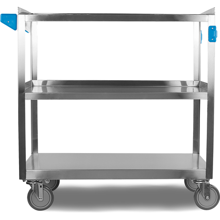 """UC5032135 - 3 Shelf Stainless Steel Utility Cart 500 lb Capacity 21""""W x 35""""L - Stainless Steel"""