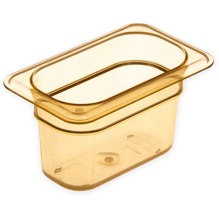 "3088713 - StorPlus™ High Heat Food Pan 1/9 Size, 4"" Deep - Amber"
