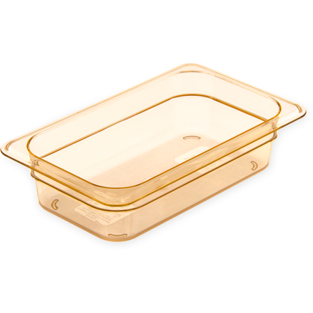 "3088013 - StorPlus™ High Heat Food Pan 1/4 Size, 2.5"" Deep - Amber"