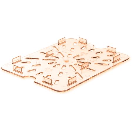 1043513 - StorPlus™ High Heat Food Pan Drain Grate 1/2 Size - Amber