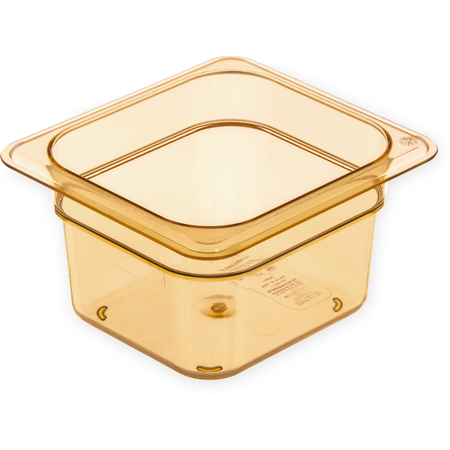 "3088413 - StorPlus™ High Heat Food Pan 1/6 Size, 4"" Deep - Amber"