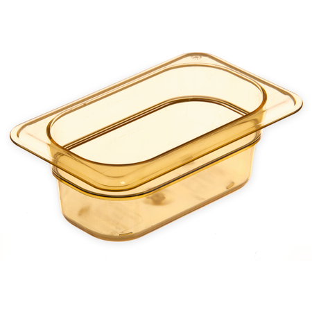 "3088613 - StorPlus™ High Heat Food Pan 1/9 Size, 2.5"" Deep - Amber"