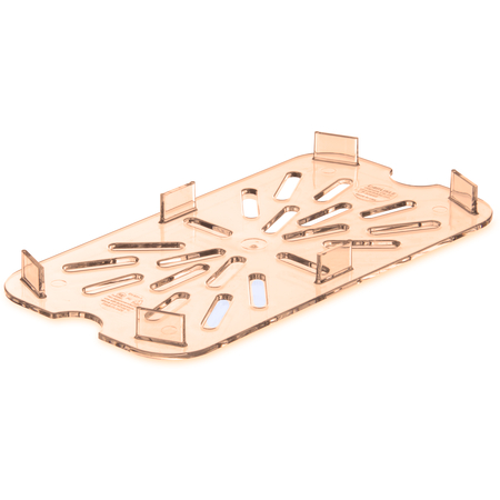 3089513 - StorPlus™ High Heat Food Pan Drain Grate 1/4 Size - Amber