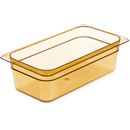 "3086113 - StorPlus™ High Heat Food Pan 1/3 Size, 4"" Deep - Amber"