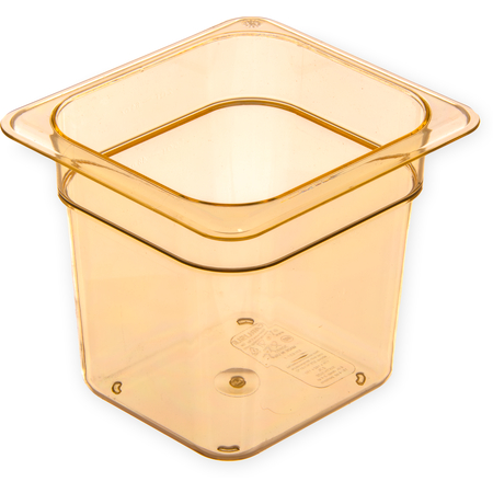 "3088513 - StorPlus™ High Heat Food Pan 1/6 Size, 6"" Deep - Amber"
