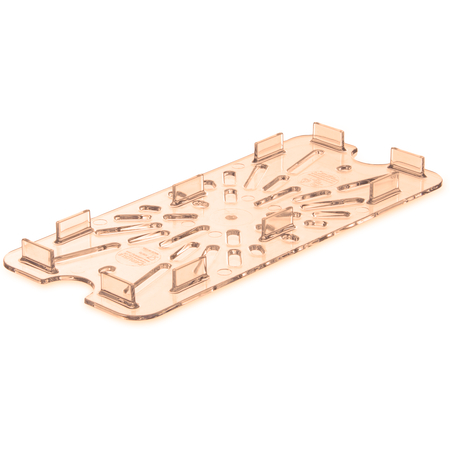 3087013 - StorPlus™ High Heat Food Pan Drain Grate 1/3 Size - Amber