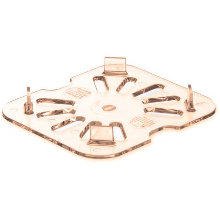 3089613 - StorPlus™ High Heat Food Pan Drain Grate 1/6 Size - Amber