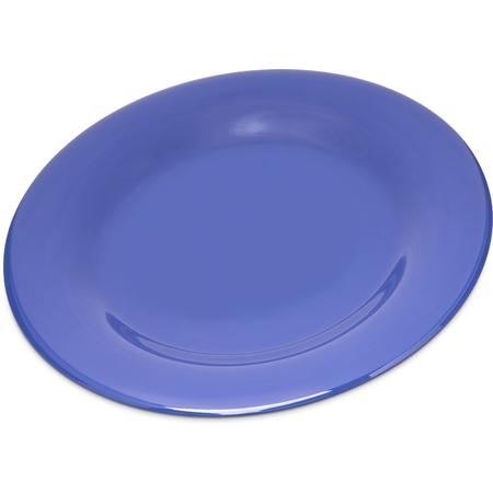 """4301014 - Durus® Melamine Wide Rim Dinner Plate 10.5"""" - Ocean Blue"""