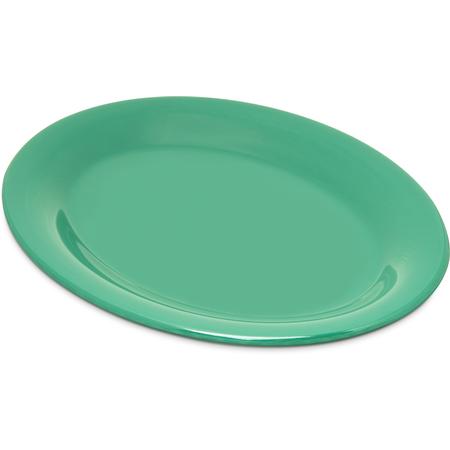 "4308609 - Durus® Melamine Oval Platter Tray 9.5"" x 7.25"" - Green"
