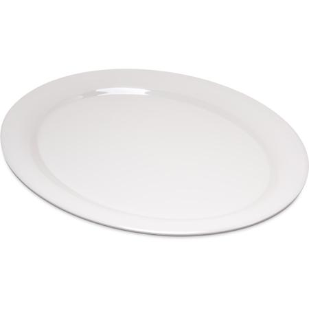 "4308042 - Durus® Melamine Oval Platter Tray 13.5"" x 10.5"" - Bone"