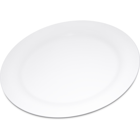 "4300202 - Durus® Melamine Narrow Rim Dinner Plate 10.5"" - White"