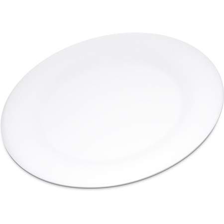 "4301002 - Durus® Melamine Dinner Plate Wide Rim 10.5"" - White"