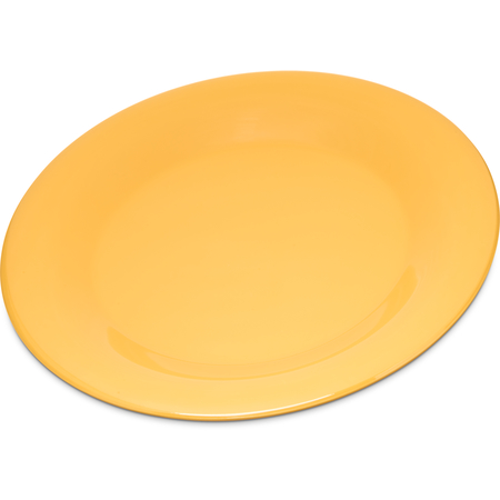 "4301222 - Durus® Melamine Wide Rim Dinner Plate 9"" - Honey Yellow"