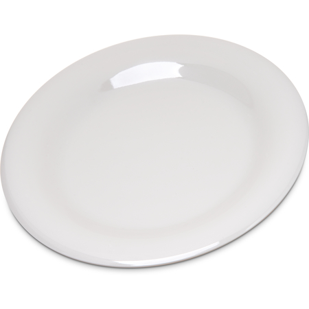 """4301842 - Durus® Melamine Pie Plate Wide Rim 6.5"""" - Bone"""