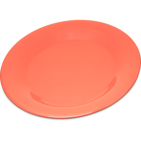 "4301252 - Durus® Melamine Wide Rim Dinner Plate 9"" - Sunset Orange"
