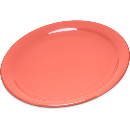 "4300452 - Durus® Melamine Narrow Rim Dinner Plate 9"" - Sunset Orange"