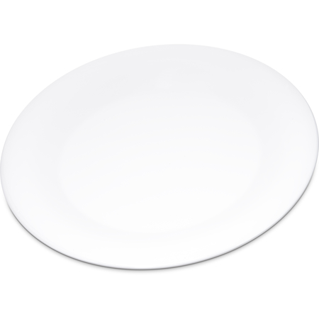 "4301202 - Durus® Melamine Wide Rim Dinner Plate 9"" - White"