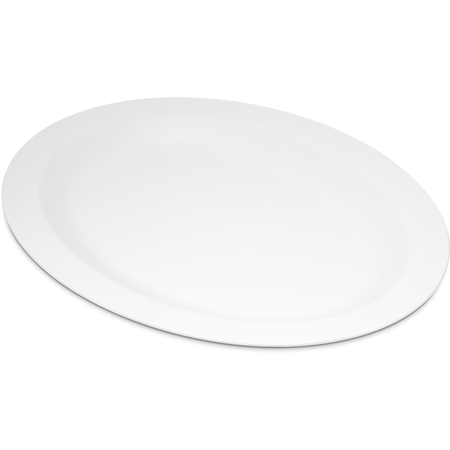 "PCD41202 - Polycarbonate Oval Platter Tray 12"" x 9"" - White"