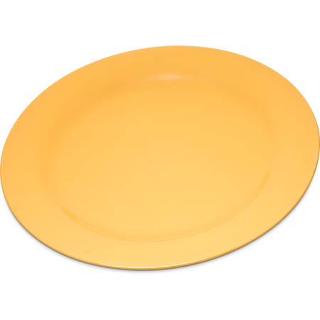 "4300222 - Durus® Melamine Dinner Plate Narrow Rim 10.5"" - Honey Yellow"