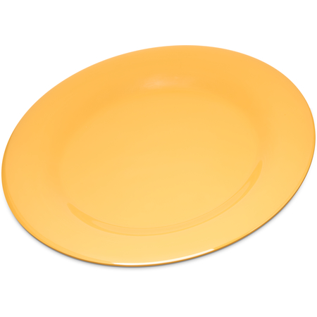 "4301022 - Durus® Melamine Wide Rim Dinner Plate 10.5"" - Honey Yellow"
