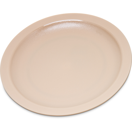 "PCD20725 - Polycarbonate Narrow Rim Plate 7.25"" - Tan"