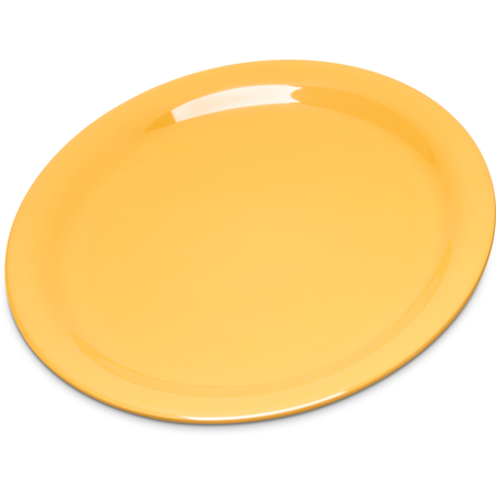 "4300822 - Durus® Melamine Narrow Rim Pie Plate 6.5"" - Honey Yellow"