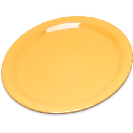 """4300822 - Durus® Melamine Narrow Rim Pie Plate 6.5"""" - Honey Yellow"""
