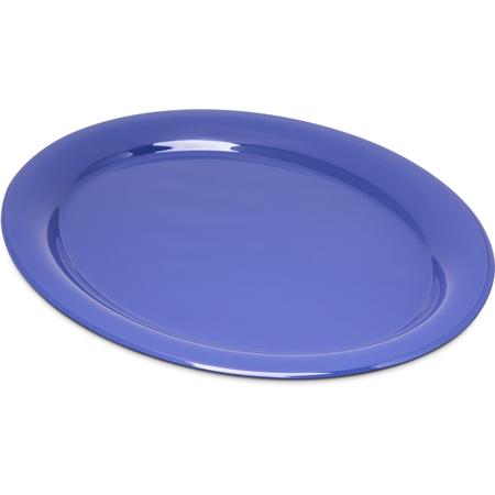 "4308014 - Durus® Melamine Oval Platter Tray 13.5"" x 10.5"" - Ocean Blue"