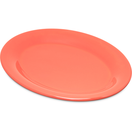 "4308652 - Durus® Melamine Oval Platter Tray 9.5"" x 7.25"" - Sunset Orange"