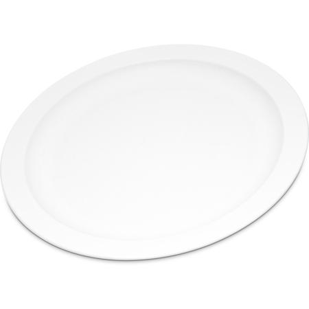 """PCD20902 - Polycarbonate Narrow Rim Plate 9"""" - White"""