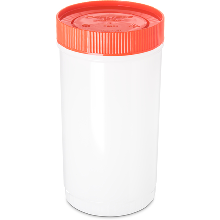PS602N24 - Stor N' Pour® Quart Backup Container w/ Assorted Color Caps 1 Quart - Orange
