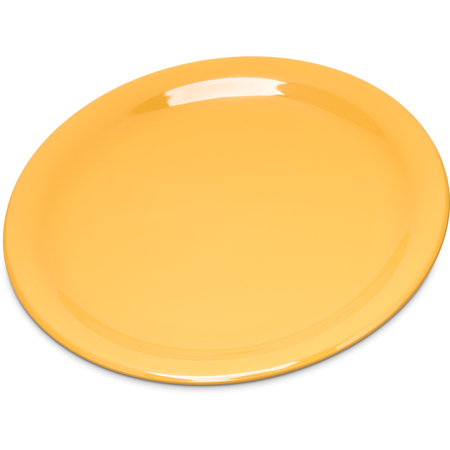 "4300622 - Durus® Melamine Salad Plate Narrow Rim 7.25"" - Honey Yellow"