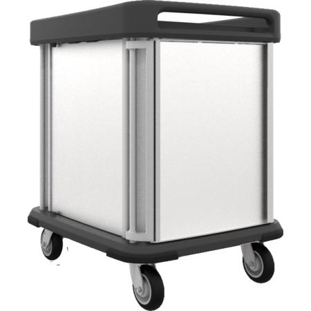 DXSU2T1DPT10 - Dinex® TQ Supreme Cart - 2 Trays 1 Door - Pass Through 10 Trays - Stainless Steel