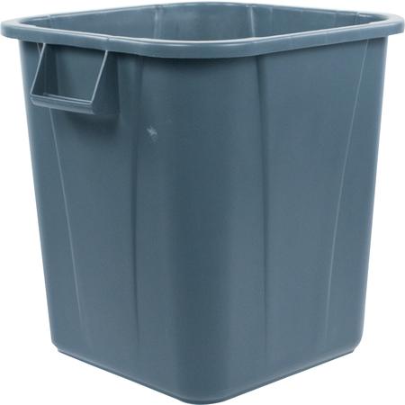 34152823 - Bronco™ Square Waste Bin Trash Container 28 Gallon - Gray