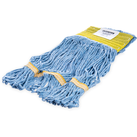 369442B14 - Flo-Pac® Small Looped-End Mop With Yellow Band - Blue