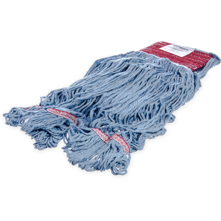 369454B14 - Flo-Pac® Large Looped-End Mop With Red Band - Blue