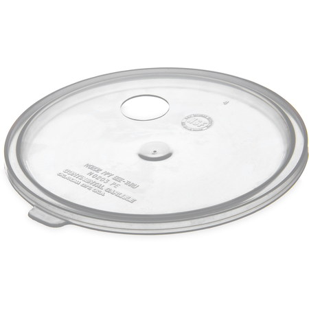 020430 - 2.7 qt Lid with Hole for Pump - Translucent