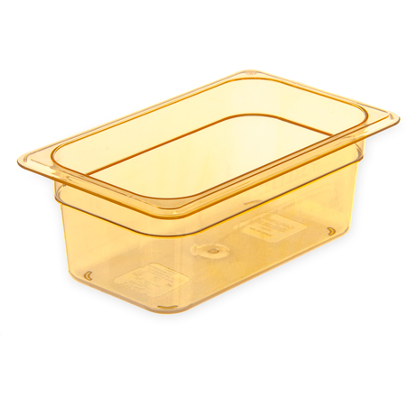 "3088113 - StorPlus™ Food Pan HH 4"" DP 1/4 Size - Amber"