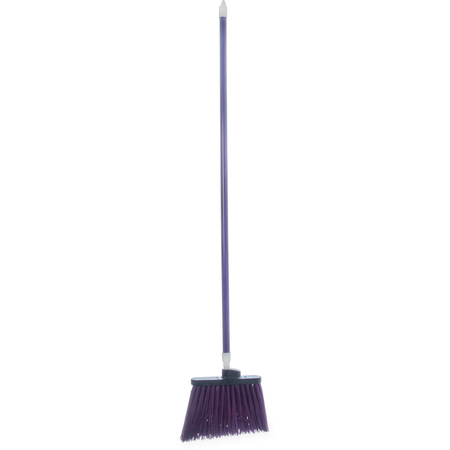 """4108368 - Sparta® Spectrum® Duo-Sweep® Unflagged Bristle Angle Broom with Handle 56"""" - Purple"""