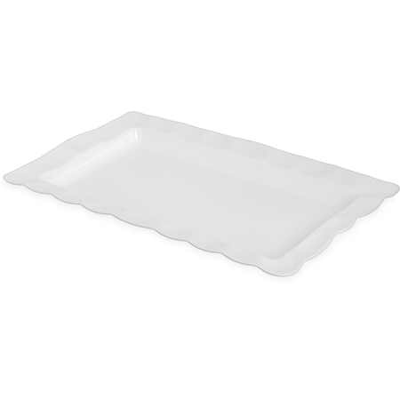 794602 - Displayware™ Rectangular Medium Scalloped Tray 22.5 x 14.5 - White