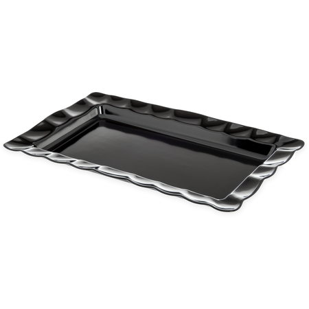 794603 - Displayware™ Rectangular Medium Scalloped Tray 22.5 x 14.5 - Black