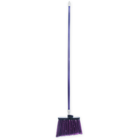 "4108268 - Duo-Sweep® Angle Broom Flagged Bristle 56"" Long - Purple"