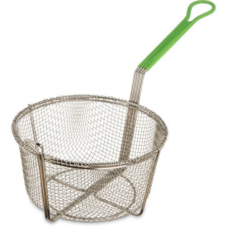 "601029 - Mesh Fryer Basket Cool Touch Handle 9-3/4"" - Chrome"