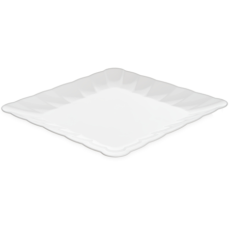 "792802 - Displayware™ Square Large Scalloped Tray 19""SQR - White"